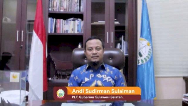 Plt Gubernur Sulsel, Andi Sudirman Sulaiman menghadiri Pertemuan Nasional Lingkungan Hidup (PNLH) XIII oleh Wahana Lingkungan Hidup Indonesia (WALHI) secara virtual, Minggu, 19 September 2021.