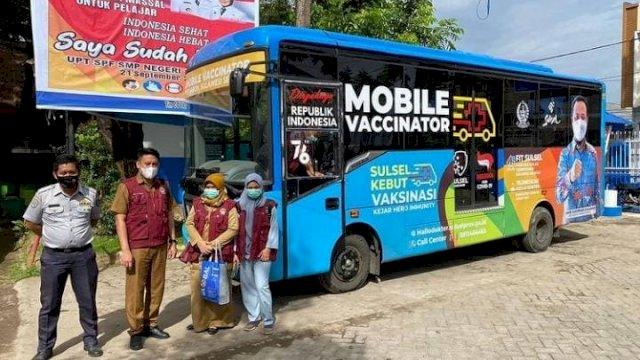 Mobil Vaksinator Terus Bergerak Jemput Bola untuk Kebut Vaksinasi di Sulsel (Foto: Tebaran.com/ Instagram)