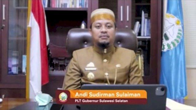 Pelaksana Tugas Gubernur Sulawesi Selatan, Andi Sudirman Sulaiman mengikuti Rapat Paripurna DPRD Provinsi Sulawesi Barat dengan agenda Peringatan 17 Tahun Provinsi Sulawesi Barat, Rabu, 22 September 2021.