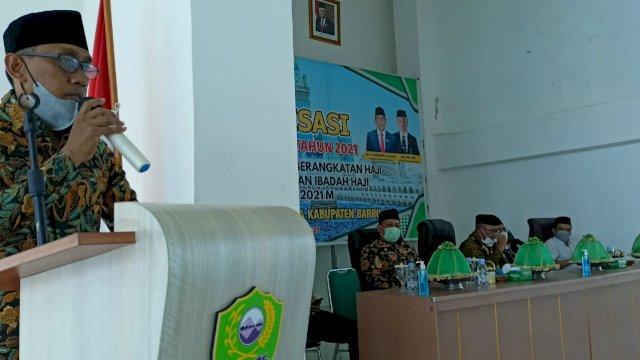Kabid Penyelenggara Haji dan Umrah 9PHU) Kantor Wilayah Kemenag Sulawesi Selatan (Sulsel) H Ali Yafid.
