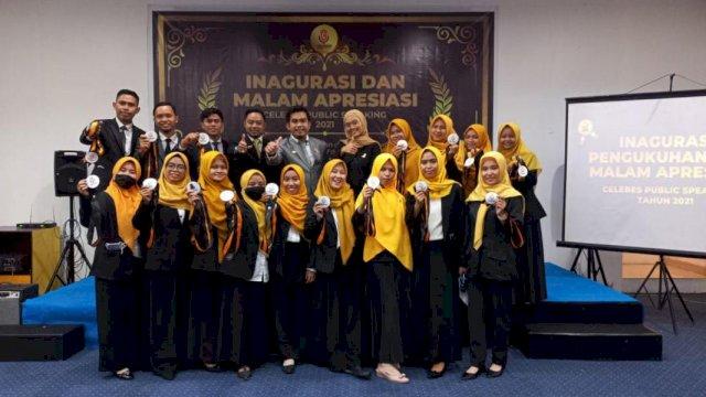 Inagurasi dan malam apresiasi Celebes Public Speaking (CPS) di Hotel Amaris Makassar, Minggu, 26 September 2021.
