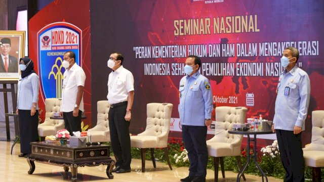 Seminar Nasional yang digelar Kemenkumham.