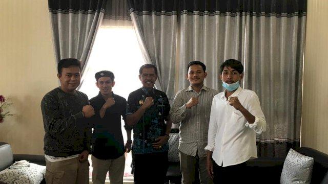 Mahasiswa Jabodetabek asal Kolaka Utara bersilaturahmi ke kantor Bupati Kolaka Utara di Jln Merdeka No 10, Lasusua, Kolaka Utara, Kamis, 30 September 2021.